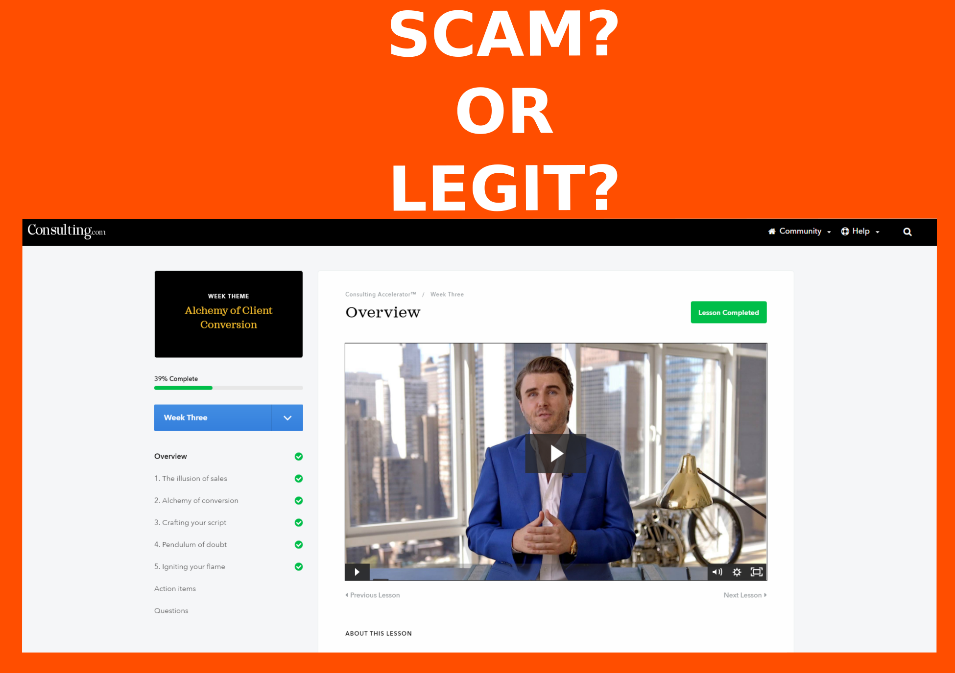 Sam Ovens' consulting accelerator  Personal experience  Scam or